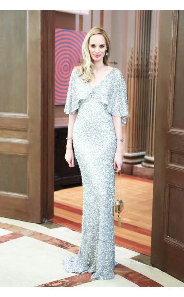 Lauren Santo Domingo in Vintage John Galliano