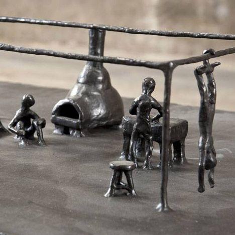 Cannibalism sculpture by Joep van Lieshout
