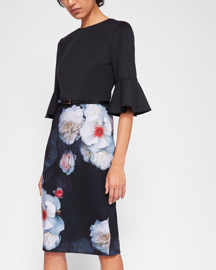 Chelsea Black bodycon dress - Black | Dresses | Ted Baker