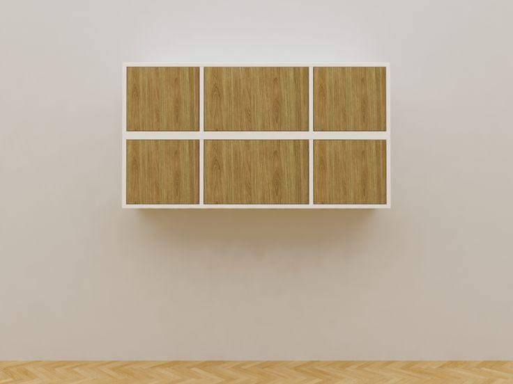 Minimalist modern furniture - Lemari Gantung Buku Minimalis - White Elegant Teak