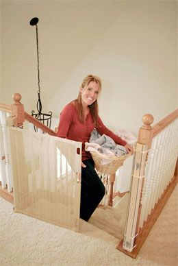 Retract-A-Gate ~ Retractable Baby Gate by Smart Retract, gate overview. An easy to use wide retractable safety gate for indoors or outdoors and certified for use at the top and bottom of stairs.