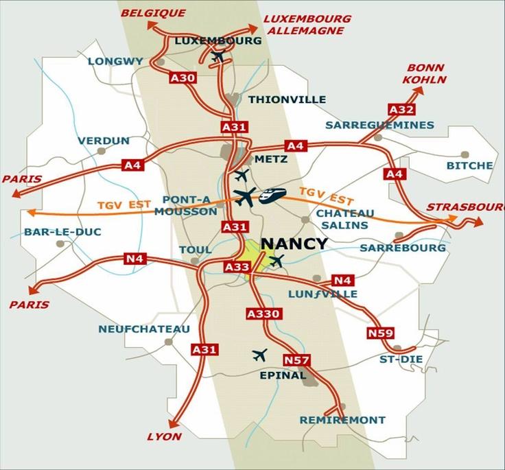 Sillon Lorrain (Nancy / Metz / Thionville / Epinal, in Lorraine - France)