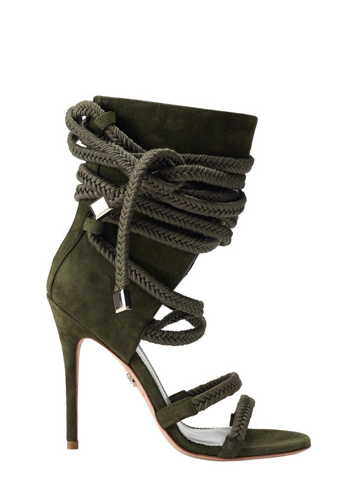 d40330245f2 Cosima army green suede sandal in 2019 | Shoes | Green suede, Green ...