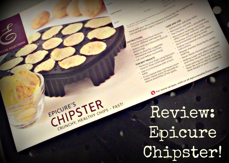 Great tips! Product Review: Chipster from Epicure Selections / Commentaires d'une utilisatrice sur le Cuit-croustill d'Épicure