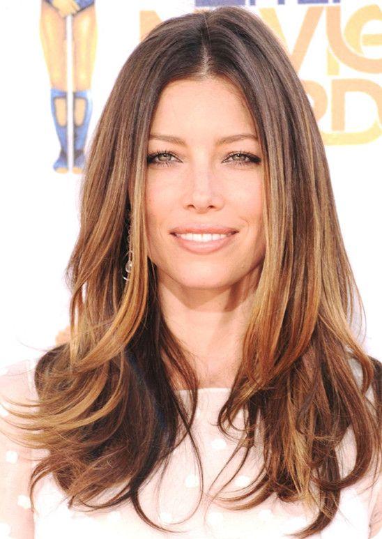 jessica-biel-medium-brown-ombre-hair-style.jpg (548×773)