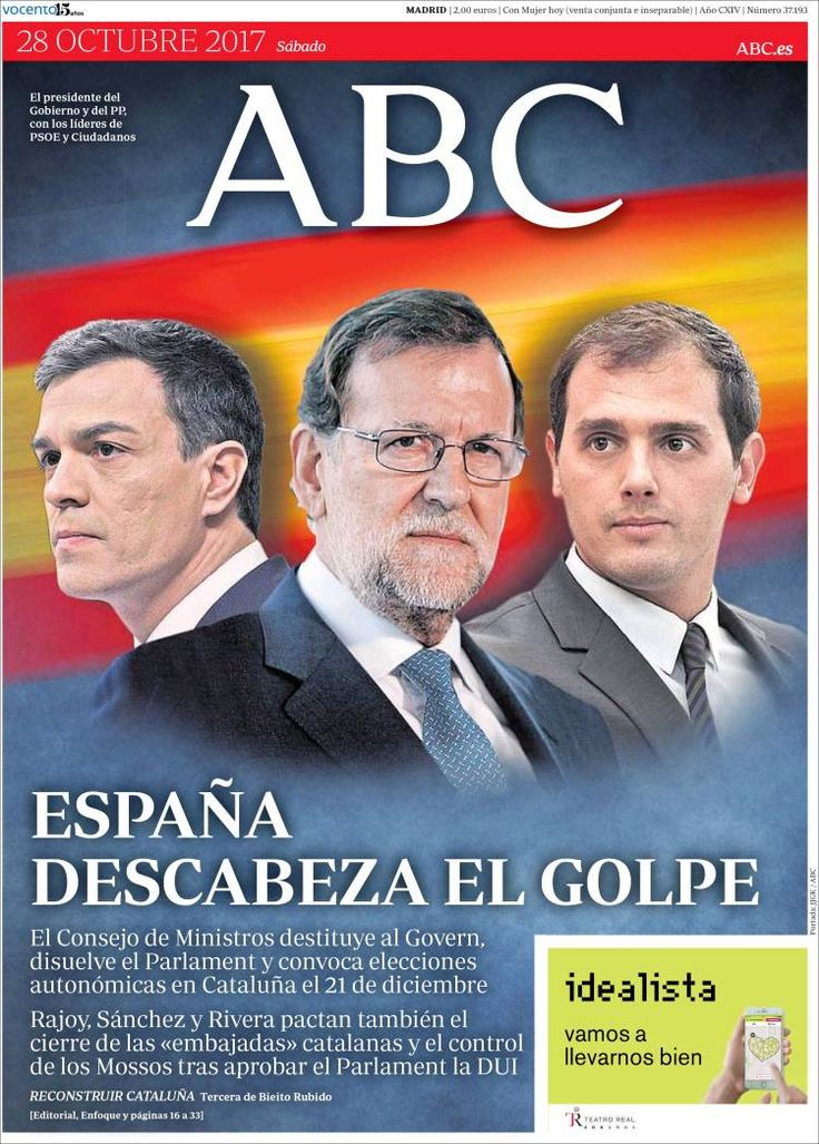 Periódico ABC (España). Periódicos de España. Toda la prensa de hoy. Kiosko.net