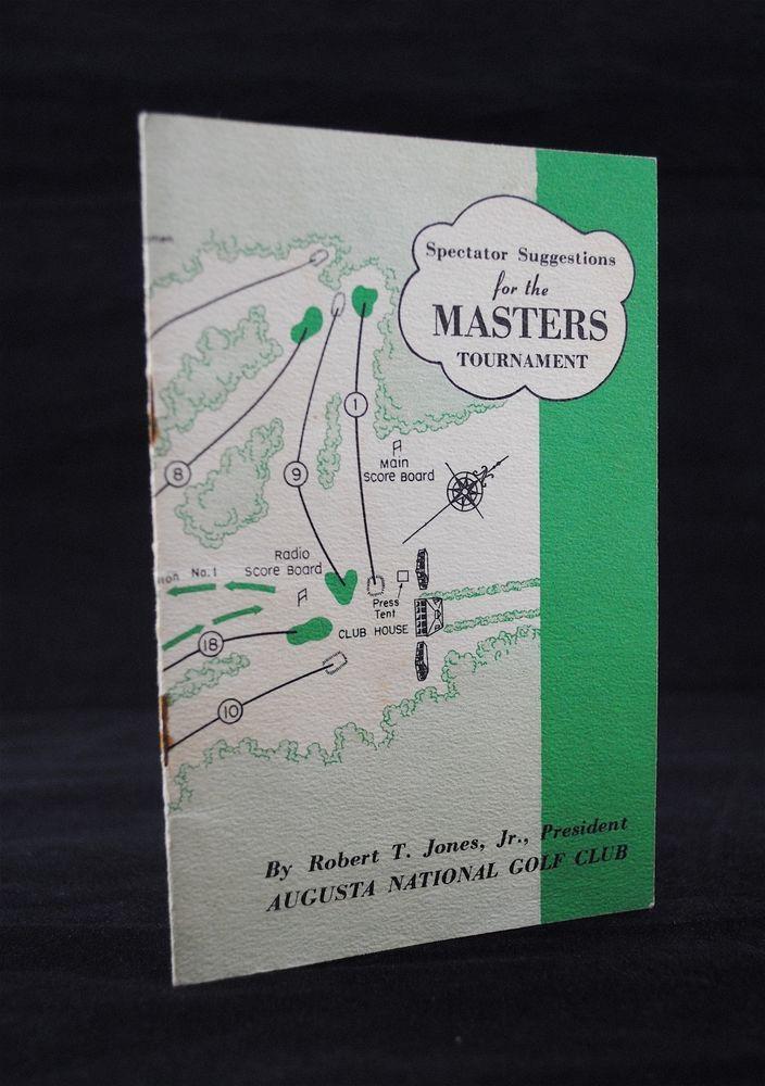 1952 Masters Spectator Guide Augusta National Golf Sam Snead Nicklaus Open PGA #AugustaNationalGolfClub