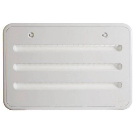 "Atwood 13001 RV UV Resistant Polypropylene White Refrigerator Side Vent, Fits Sidewall Opening of 13 5/8"" x 21 3/8"""