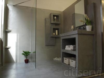 Cemento decorativo para paredes mobiliario pavimentos - Microcemento para piscinas ...