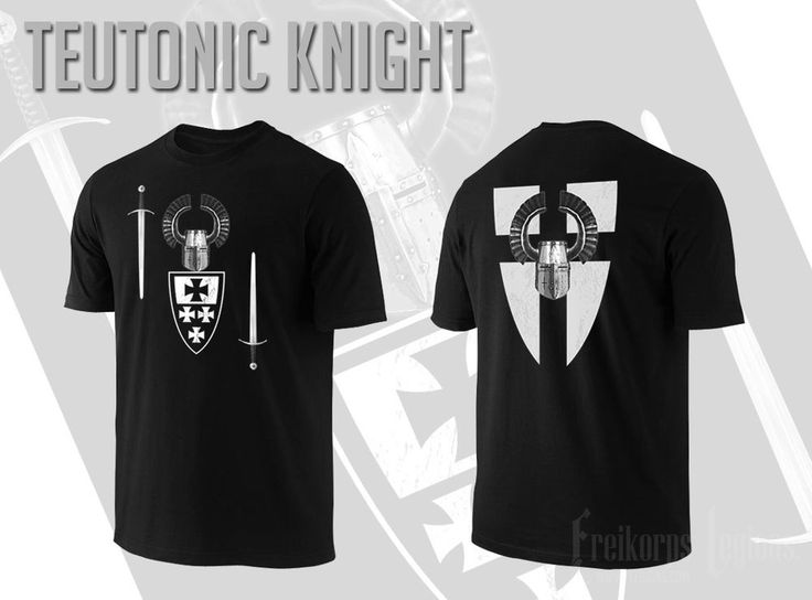 TEUTONIC KNIGHT  T-shirt  #FreikorpsLegions #GraphicTee