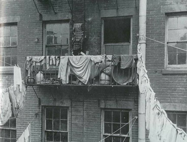 Ralph STEINER :: Clotheslines, NYC, 1925 Marjorie...