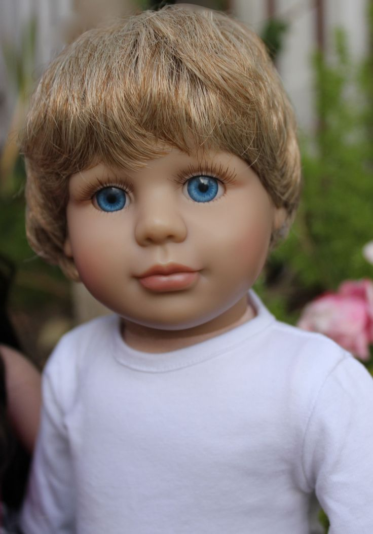Meet 18 inch boy doll, Cameron at www.harmonyclubdolls.com. Harmony Club Dolls boy dolls are the same size as American Girl 18 inch dolls. Cameron is Soft bodied, has fixed realistic eyes, and has vinyl poseable limbs.