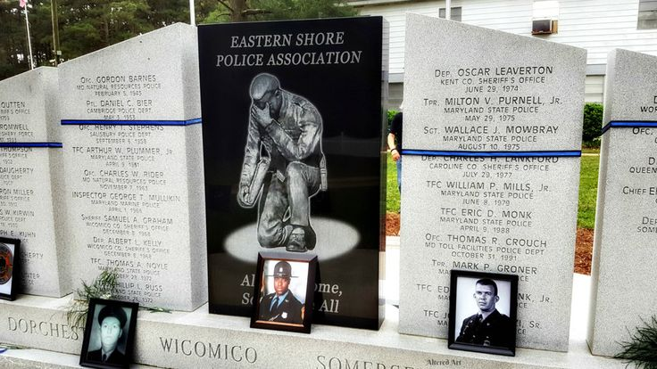 Police Memorial Wall (Maryland's eastern shore) | Rhodesdale, MD (Dorchester County)