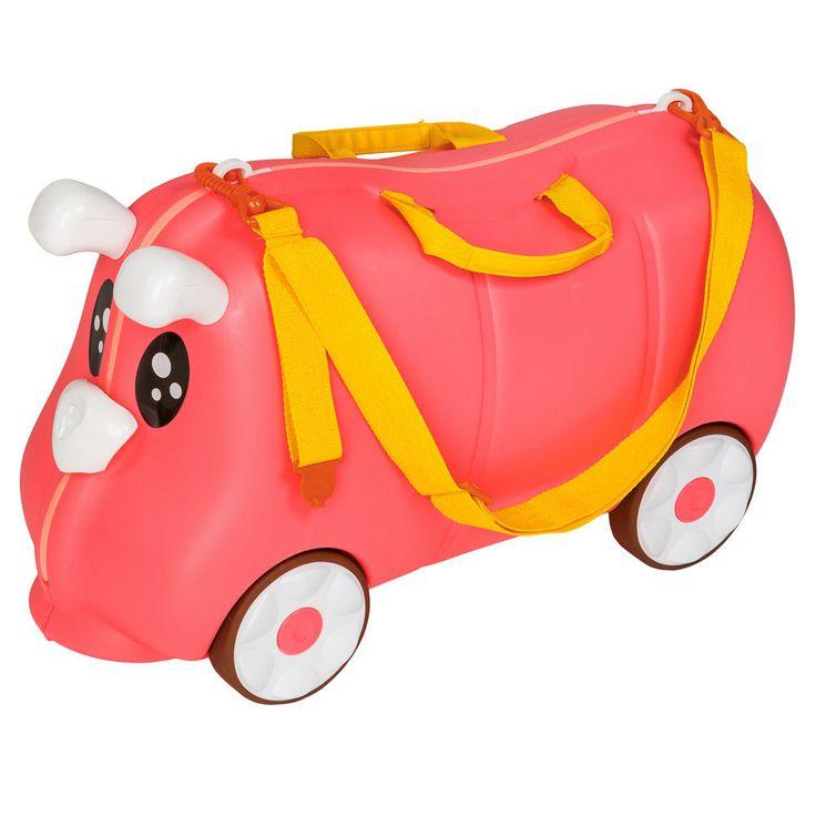 Kinder Hartschalen Koffer Ziehkoffer Rutscher Kinderkoffer Reisekoffer pink