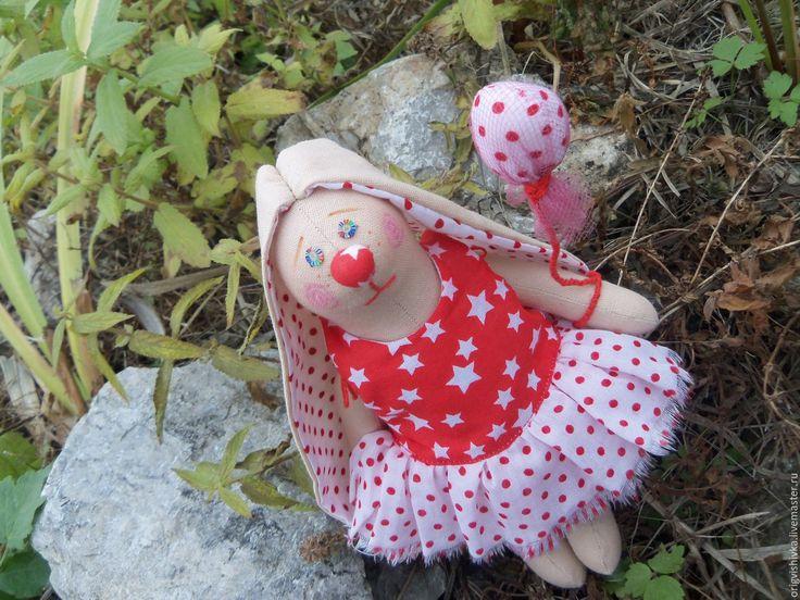 Купить Зайка тильда Клоун - ярко-красный, клоун, клоунесса, клоуны, зайка тильда, зайка