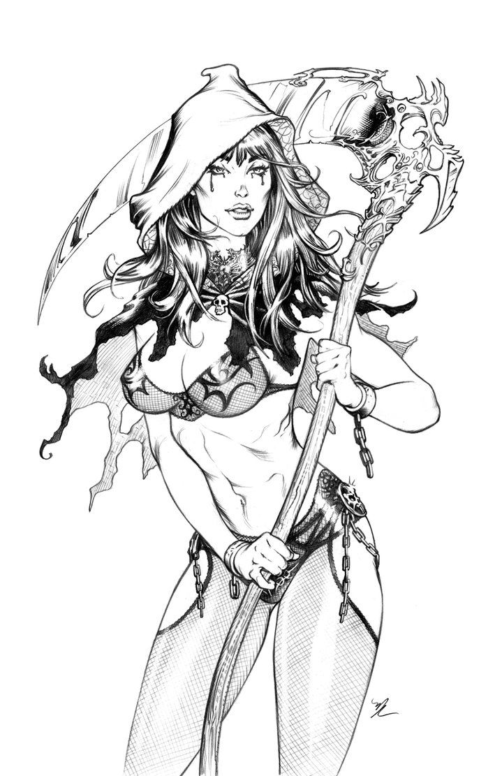 grimm fairy tale coloring pages - photo#4