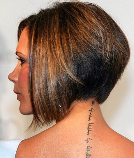 Stacked Hairstyles brunette angled stacked bob for straight hair Short Stacked Hairstyles For Women