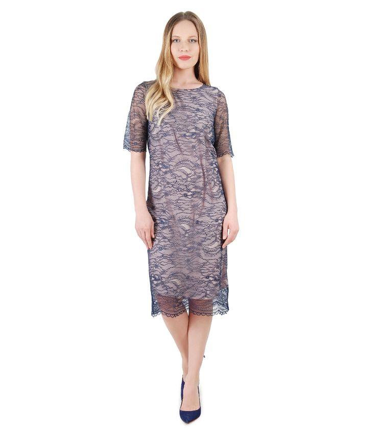 Lovely lace! Spring17 | YOKKO #dress #lace #party #beauty #color #blue #fashion #women #yokko