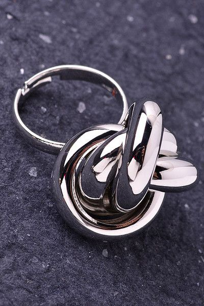 Bella Knot Ring Inspired by a ring belonging to my great-grandmother, Bella, this knot ring has an antique yet modern feel. Wear it as a cocktail ring or on a long, thin chain as a pendant. Nickel free