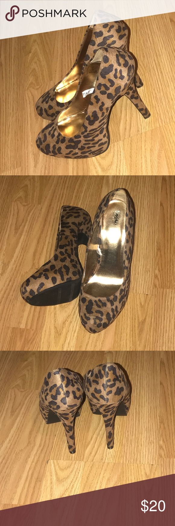 Animal Print High Heels. Very Cute and Comfy. Worn once indoors for a photo shoot. Perfect condition. Open to offers. Mossimo Supply Co Shoes Heels