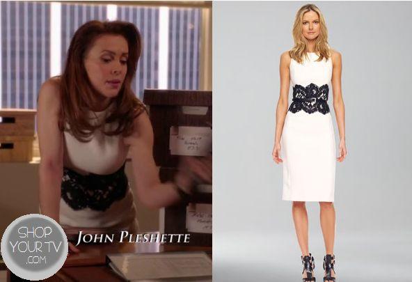 Shop Your Tv: Mistresses: Season 1 Episode 12 Savi's White with Black Lace Dress $698