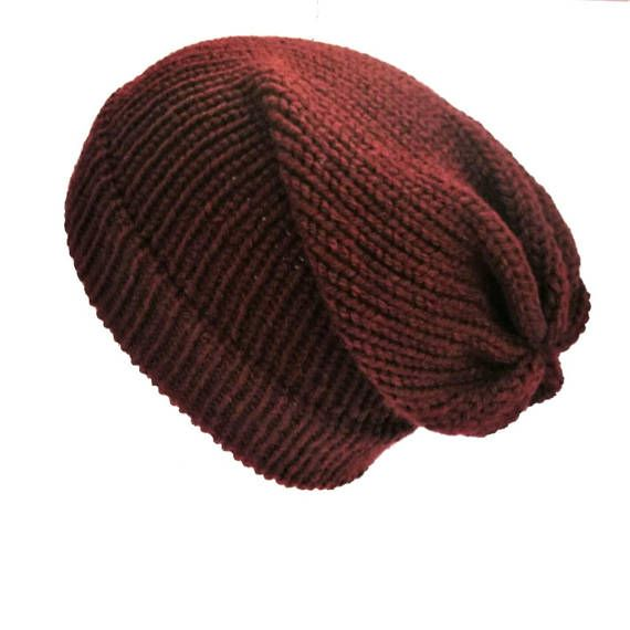 6edbd7bd91e40 Maroon slouch hat slouchy beanie unisex slouchy knit hat woman knit hat  slouchy beanie hat winter hat vegan hat burgundy knit hat wine hat   slouchyhat ...