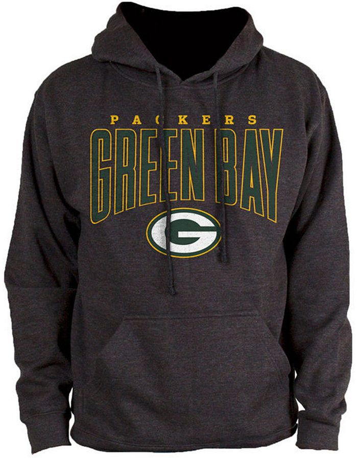 Authentic Nfl Apparel Men s Green Bay Packers Defensive Line Hoodie - Black  XXL  de800f512