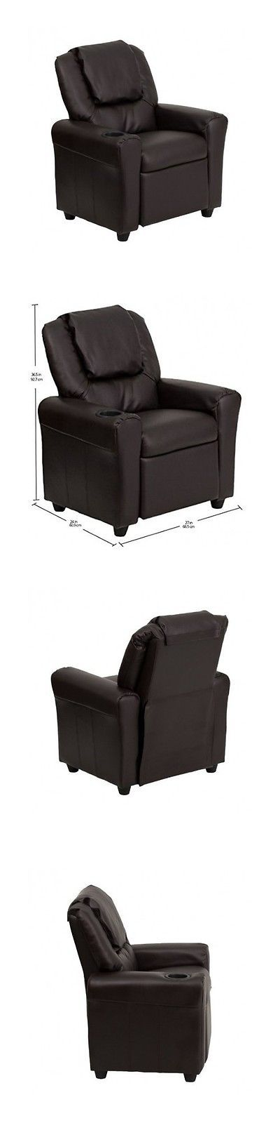 Superior Sofas And Armchairs 134648: Kids Recliner Chair Contemporary Vinyl Cup  Holder Personalize Children Furniture