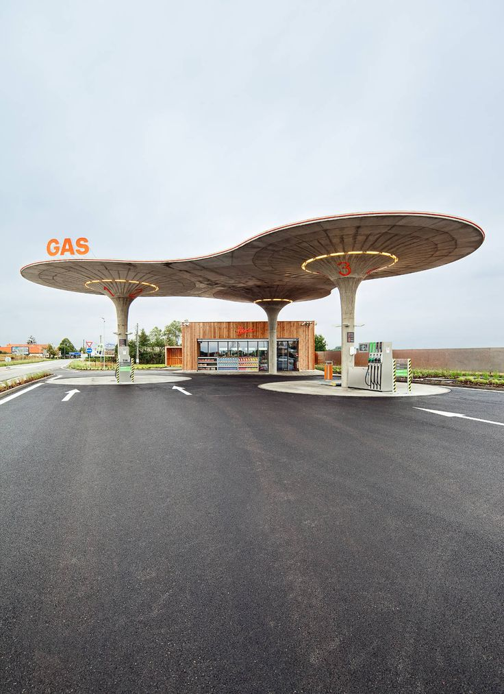 incredible gas station! via revolving roundabout
