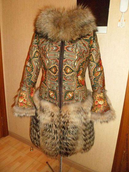 """Верхняя одежда ручной работы. Зимнее пальто """"Миндаль"""".. Алёна. Ярмарка Мастеров. Натуральный мех, натуральный мех"""