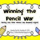 I don't know about you all, but pencils make me cringe.  They are a necessary evil in all classrooms, being that children do need to write things d...