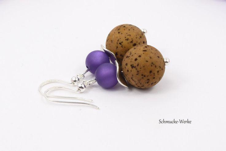 Ohrringe - Polaris-Ohrringe lila braun 925er Silber - ein Designerstück von Schmucke-Werke bei DaWanda