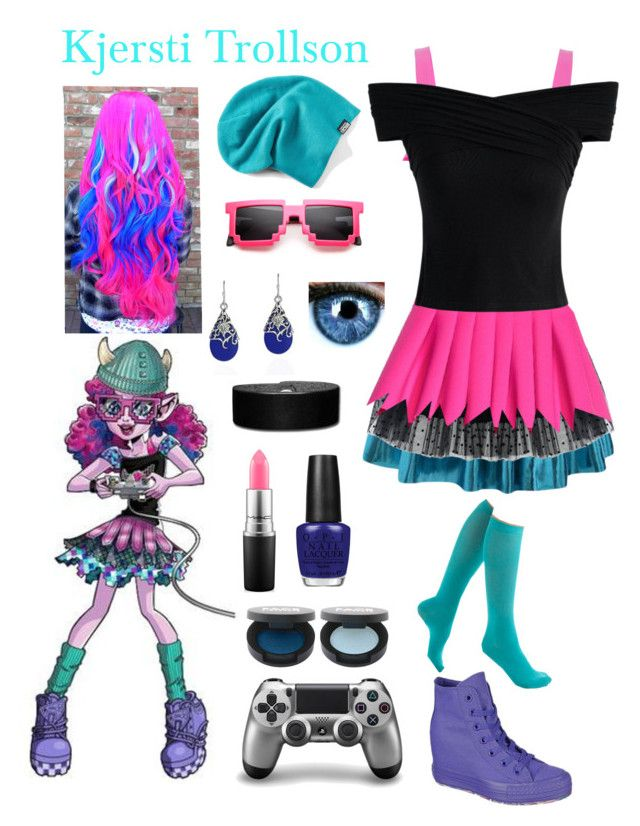 """""""Kjersti Trollson"""" by ender1027 ❤ liked on Polyvore featuring Chicwish, Cushnie Et Ochs, Converse, AeraVida, MAC Cosmetics, OPI and FACE Stockholm"""