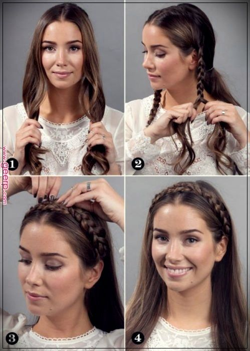 15 Great ideas of hairstyles with braids to store the iron - Short and Curly Haircuts