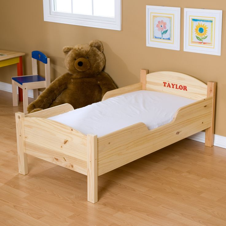 Little Colorado Personalized Traditional Toddler Bed - 88N-LN/BL