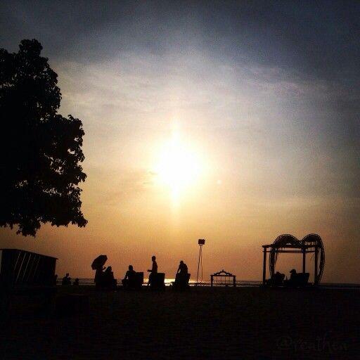 Sunset at ombak beach hotel