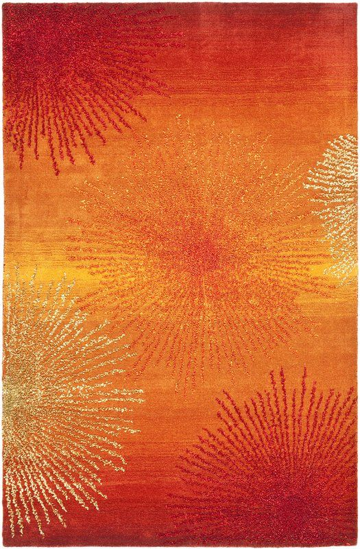 Freda Rust/Orange Area Rug & Reviews   AllModern