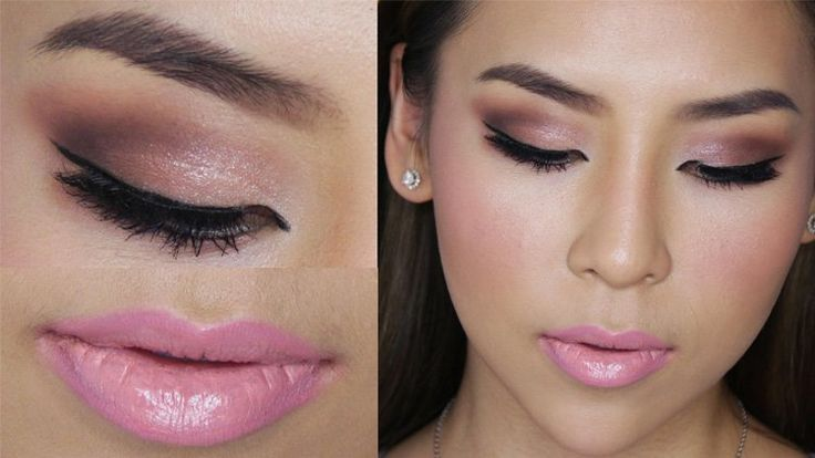 Makeup to go with a pink dress