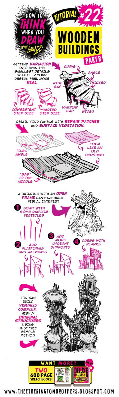 The Etherington Brothers: How to THINK when you draw WOODEN BUILDINGS
