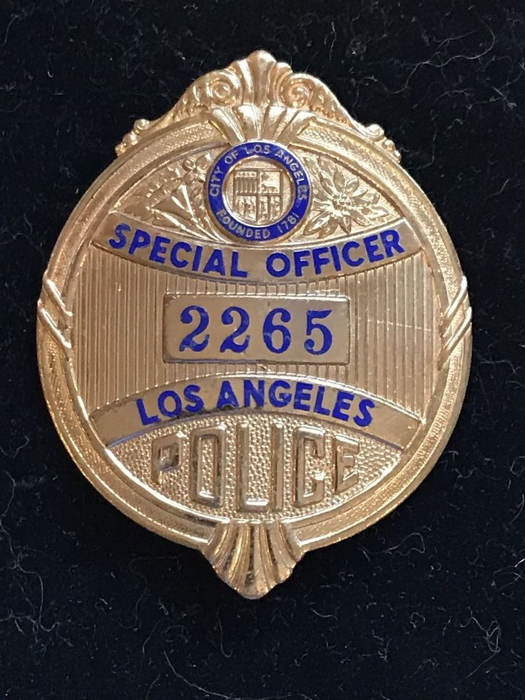 LAPD Special Officer Badge