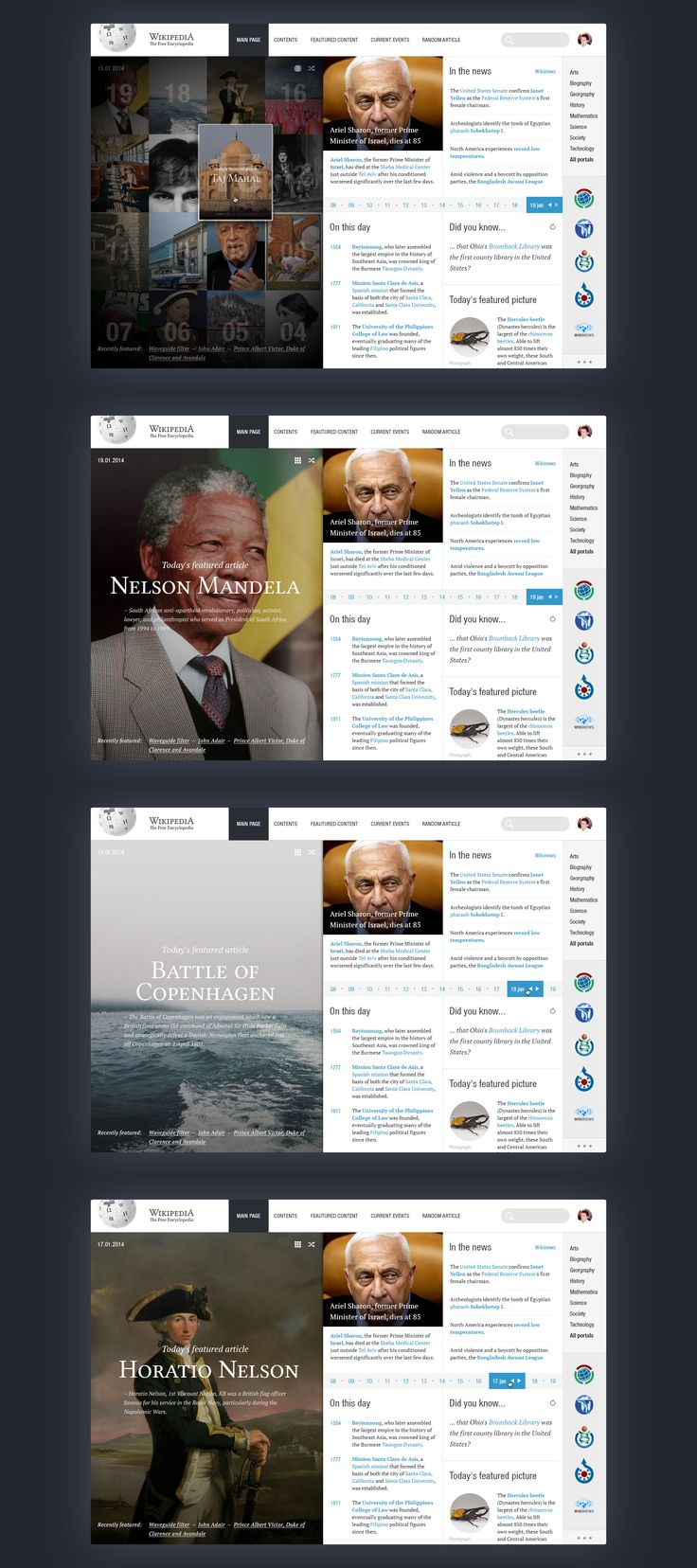 Wikipedia redesign by George Kvasnikov. I thought it was a twitter redesign at first. Nice design intentions.