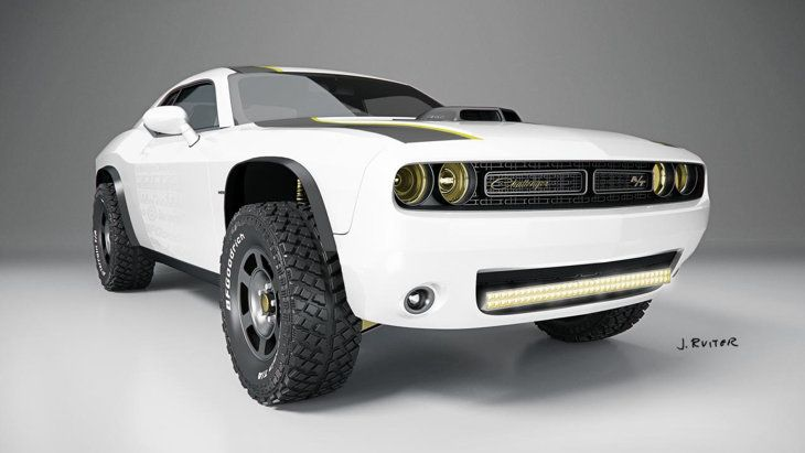 Off-road Dodge Challenger Hellcat? One designer asks why not | Motoramic - Yahoo Autos