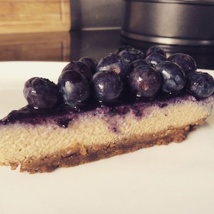 Cheesecake végétalien speculoos et myrtilles