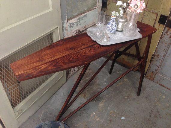 Vintage Ironing Board Primitive Decor Bar Cart by VintageHipDecor, $149.00