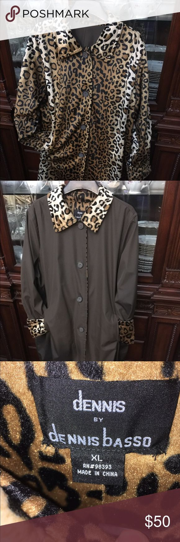 Dennis Basso all weather reversible coat All weather, machine washable coat. Practically new! Size XL could fit 1 XL Dennis Basso Jackets & Coats Puffers