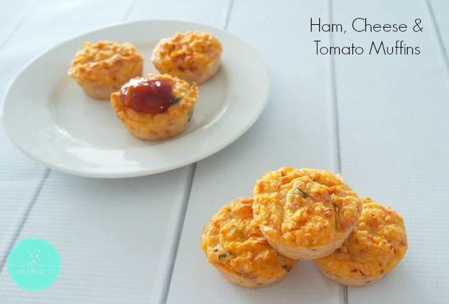 These Ham, Cheese and Tomato Muffins were a huge hit with everyone in our house and were really yummy when served warm with some homemade tomato sauce.