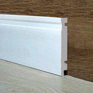 Rodapé Santa Luzia Moderna 480 16mm x 15cm x 2,40m (Barra) Branco
