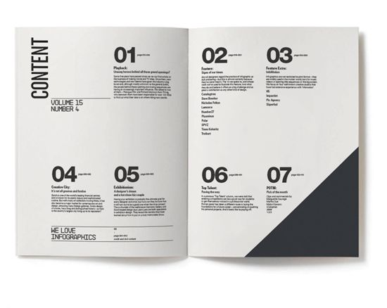Designing the Perfect Table of Contents: 50 Examples to Show You How – Design School