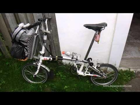 Vélo Brompton- Équipements de camping pour 3 personnes - YouTube
