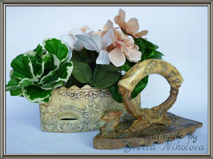 Ceramic box-iron.Handmade by Svetla Nikolova.
